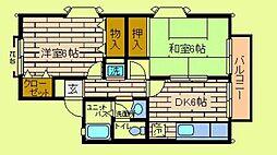 市ヶ尾森ビル壱番館A[2階]の間取り
