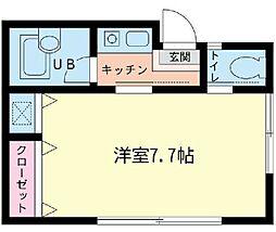 神奈川県横浜市緑区長津田町の賃貸アパートの間取り