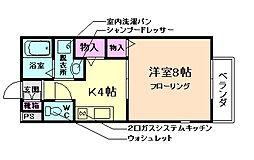 大阪府豊中市柴原町1丁目の賃貸アパートの間取り