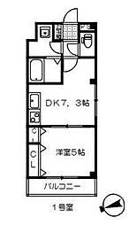 東武野田線 岩槻駅 徒歩9分の賃貸アパート 3階1DKの間取り