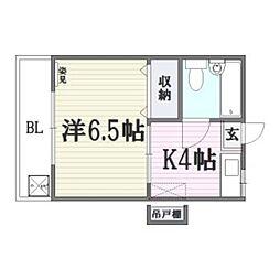 コーポ昭南[1階]の間取り