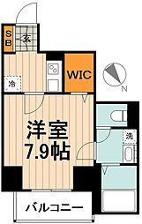 JR高崎線 尾久駅 徒歩4分の賃貸マンション 3階1Kの間取り
