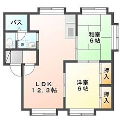 愛知県豊橋市中橋良町の賃貸アパートの間取り