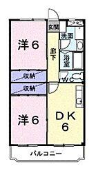 埼玉県上尾市大字瓦葺の賃貸マンションの間取り