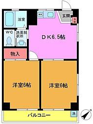 コーポ本八幡[1階]の間取り
