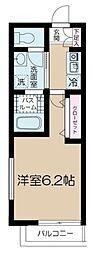 フェリーチェ高円寺C 3階1Kの間取り