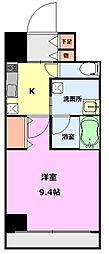 S-FORT新潟本町 6階1Kの間取り