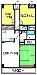 ベリエ本郷[4階]の間取り