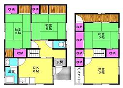 [一戸建] 兵庫県加古郡播磨町野添城2丁目 の賃貸【/】の間取り