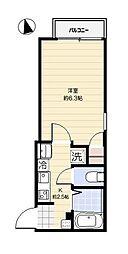 ドミール亀戸[1階]の間取り