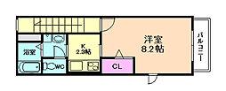 T−garden8(ティーガーデンエイト)[2階]の間取り