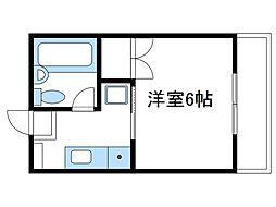 神奈川県厚木市飯山の賃貸マンションの間取り