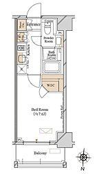 都営大江戸線 両国駅 徒歩4分の賃貸マンション 8階1Kの間取り