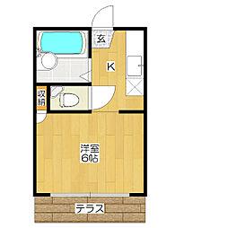 サンライズマンション[103号室]の間取り