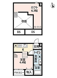 Infinity 東大宮(インフィニティ ヒガシオオミヤ)[2階]の間取り