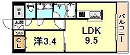メゾン ド リベルテ 4階1LDKの間取り