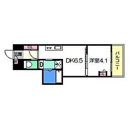 Osaka Metro御堂筋線 あびこ駅 徒歩8分の賃貸マンション 12階1DKの間取り