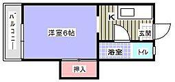 黒崎ハイツ[109号室]の間取り