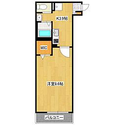 JR総武線 新小岩駅 徒歩10分の賃貸アパート 3階1Kの間取り