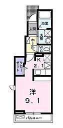 埼玉県鶴ヶ島市大字中新田の賃貸アパートの間取り