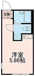 クラナカノシマ(KURA Nakanoshima)[0104号室]の間取り