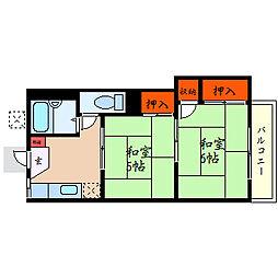 滋賀県彦根市船町の賃貸アパートの間取り