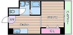 シャトー都島[5階]の間取り