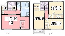 ジィオニスII[2階]の間取り