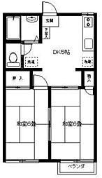 テラス坂戸A[2階]の間取り