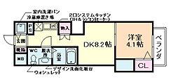 リーガルコート川西小花I[7階]の間取り