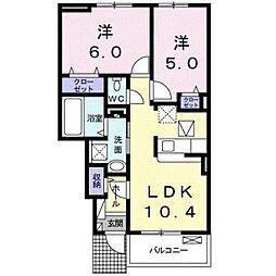 ピア ココ[1階]の間取り