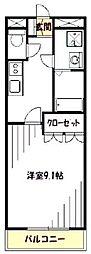 神奈川県横浜市緑区長津田町の賃貸マンションの間取り