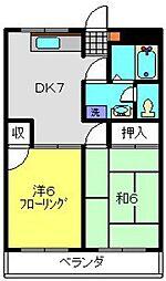 ソフィアマンション[204号室]の間取り
