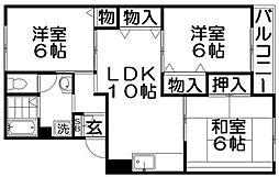 ファミールKII[2階]の間取り