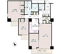東京メトロ丸ノ内線 茗荷谷駅 徒歩9分の賃貸マンション 4階3LDKの間取り