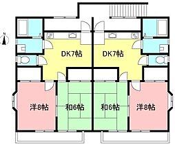東京都三鷹市大沢6丁目の賃貸アパートの間取り