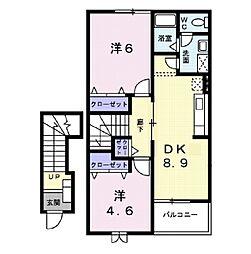 ラ・ファミーユV[2階]の間取り