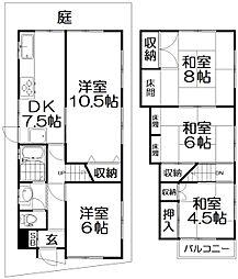 [一戸建] 大阪府枚方市宮之下町 の賃貸【/】の間取り