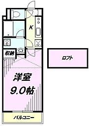 プランタンS[207号室]の間取り