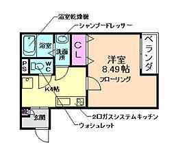 阪急宝塚本線 石橋阪大前駅 徒歩7分の賃貸アパート 3階1Kの間取り