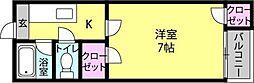ドリームパレス井尻九番館[102号室]の間取り