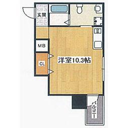 阪堺電気軌道阪堺線 妙国寺前駅 徒歩1分の賃貸マンション 5階ワンルームの間取り