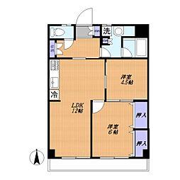 たまプラーザスカイマンション[102号室]の間取り