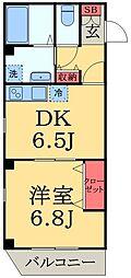 千葉県千葉市中央区宮崎1丁目の賃貸マンションの間取り
