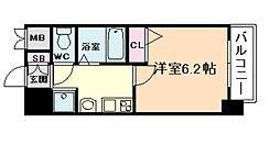 エステムコート新大阪VIエキスプレス 2階1Kの間取り