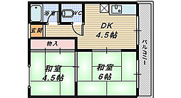 RIZEONE 堺R-side[4階]の間取り
