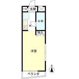 ブルークレールK[2階]の間取り