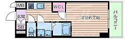 Osaka Metro御堂筋線 江坂駅 徒歩7分の賃貸マンション 2階1Kの間取り