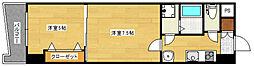 ロイヤル呉服112[3階]の間取り