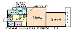 学生会館Grand E`terna大阪[332号室]の間取り